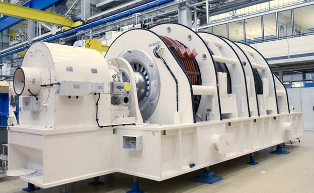 SIEMENS's 2 pole generators customized for the use on gas and steam turbines
