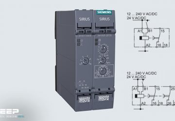 Siemens SIRIUS 3RP25 timing relay with microprocessor, OFF delay without auxiliary voltage, fully cover the functionality of the predecessor types on ASIC basis