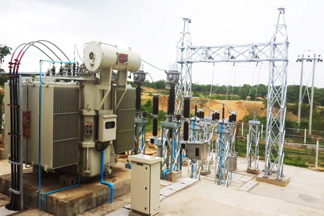 Rural distribution power substation
