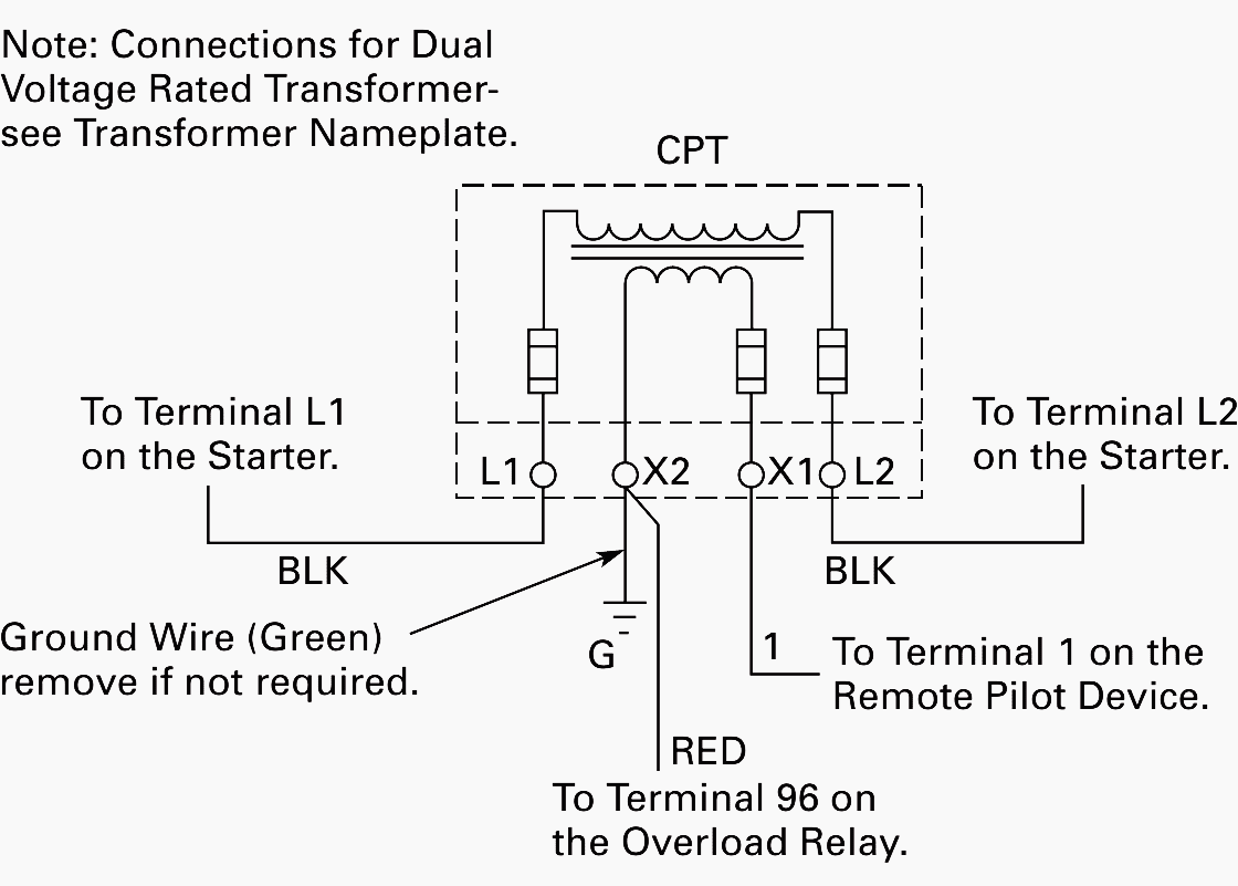 Rib Transformer Control Wiring Diagrams Layout Pam1 Relay Diagram Of Power For Motor 3 Phase Hook Up