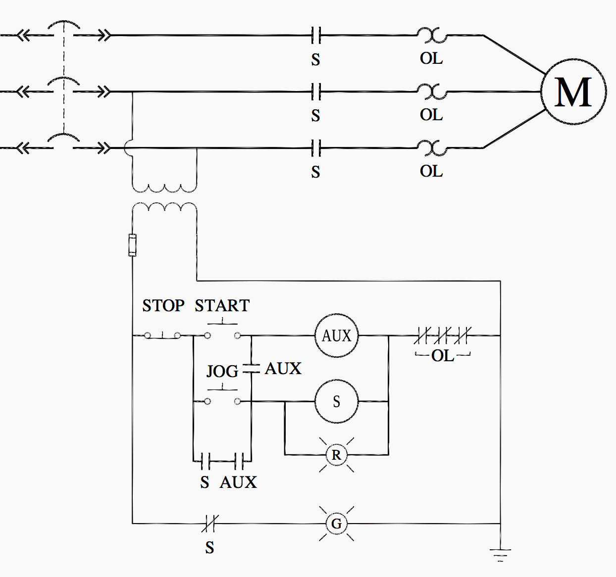 Jogging Timer Circuit Diagram Wiring Diagrams Simple Relay Logic Ladder For Special Motor Control Circuits And Rh Electrical Engineering Portal Com Ic