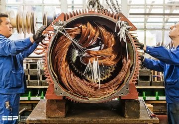 Improving the efficiency and reducing the vibrations of large electrical machines