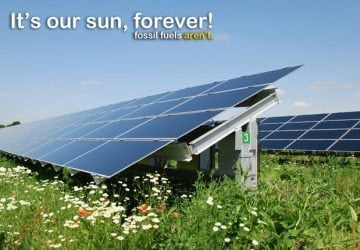 It's our sun forever, fossil fuels aren't