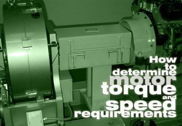 How to determine motor torque and speed requirements