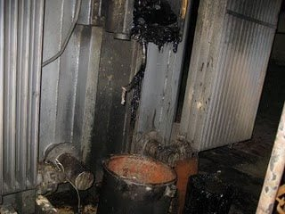 High cost transformer oil is leaking from a transformer