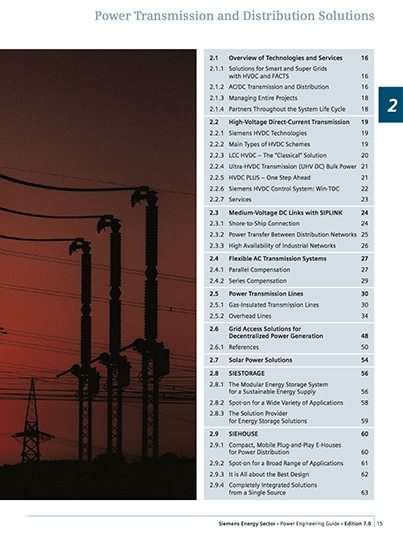 Power Transmission and Distribution Solutions Guide - Siemens
