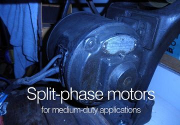 Split-phase motors for medium-duty applications