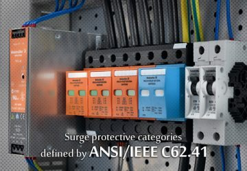 Surge protective categories defined by ANSI/IEEE C62.41