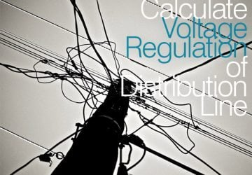 How to calculate voltage regulation of distribution line